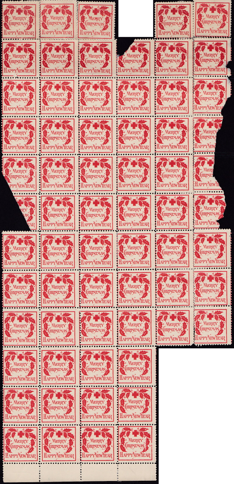 1907 type 2 Christmas Seal multiple