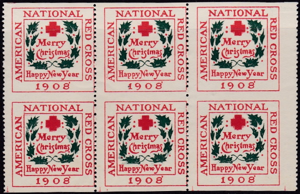 1908 ty 1 vertical pair imperforate horizontally