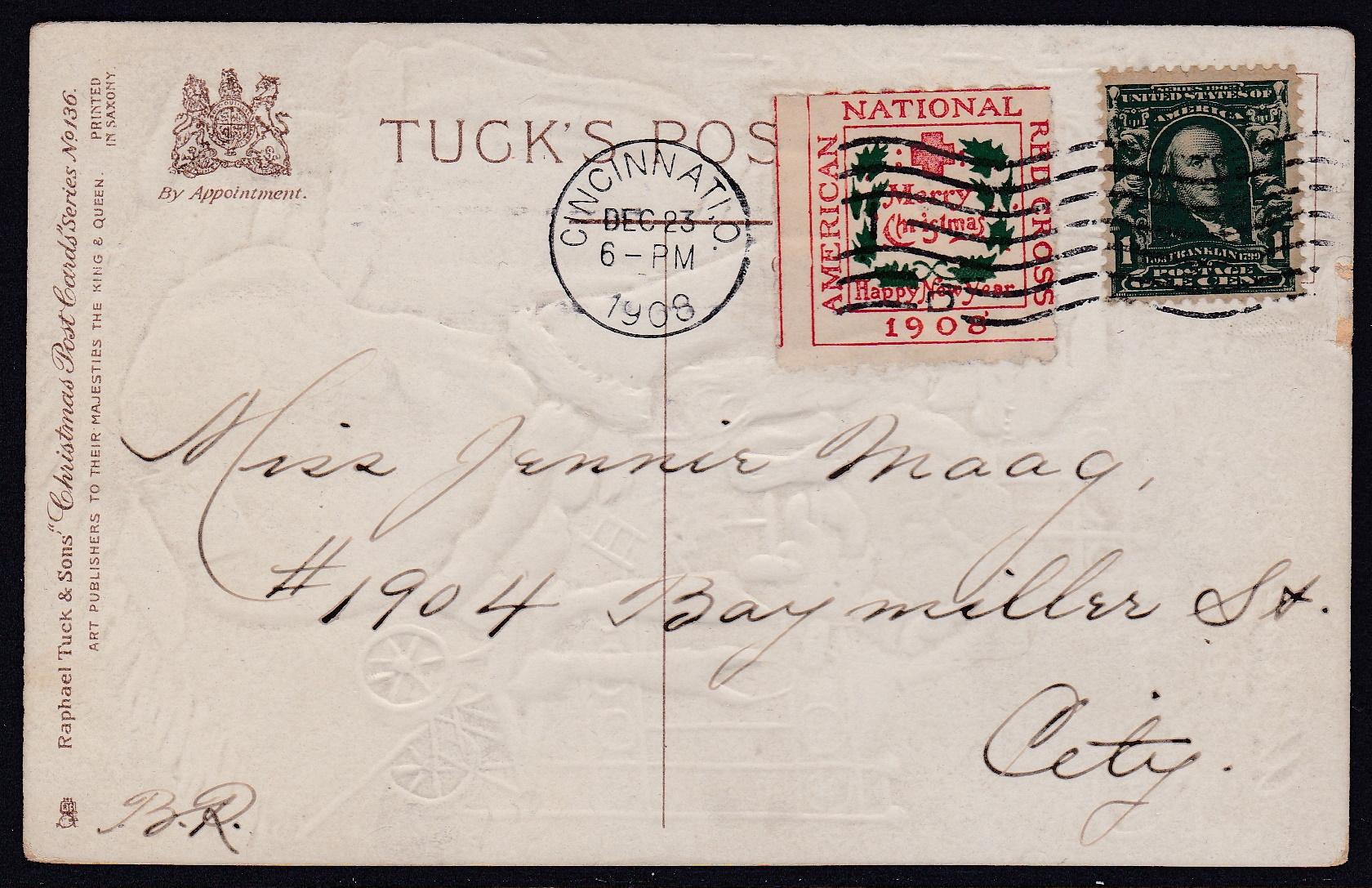 1908 UK 1a tied 12-23-18 Cincinnati