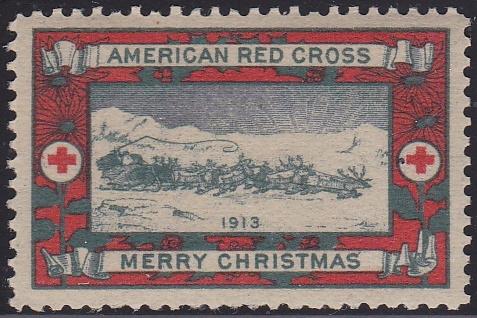 WX11 1913 Type 1 US Christmas Seal
