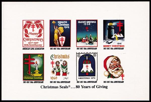 1987 Christmas Seal Postcard