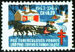 Unauthorized US Lookalike Christmas Seal, Brazil 1943