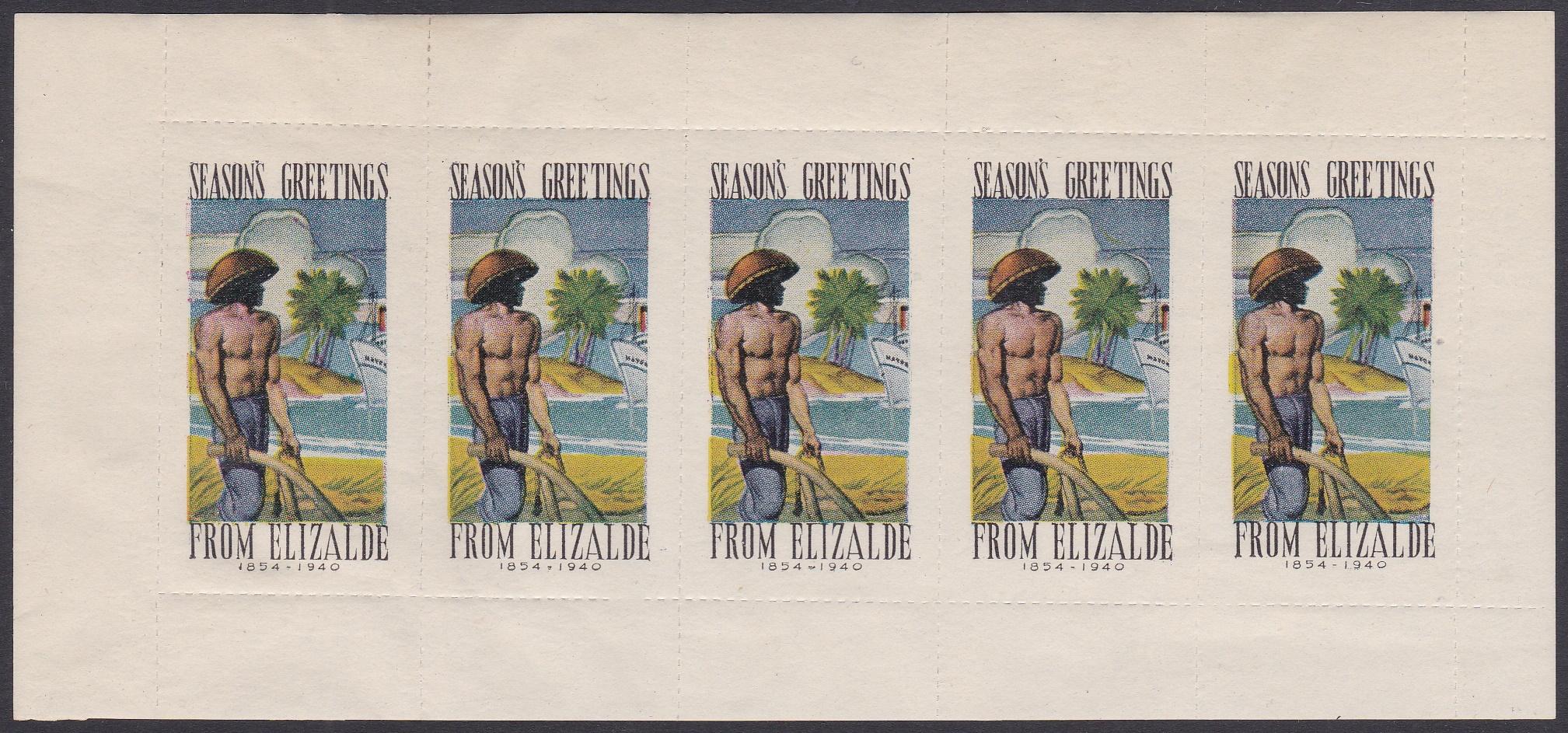 Rare 1940 Philippines Elizalde pane