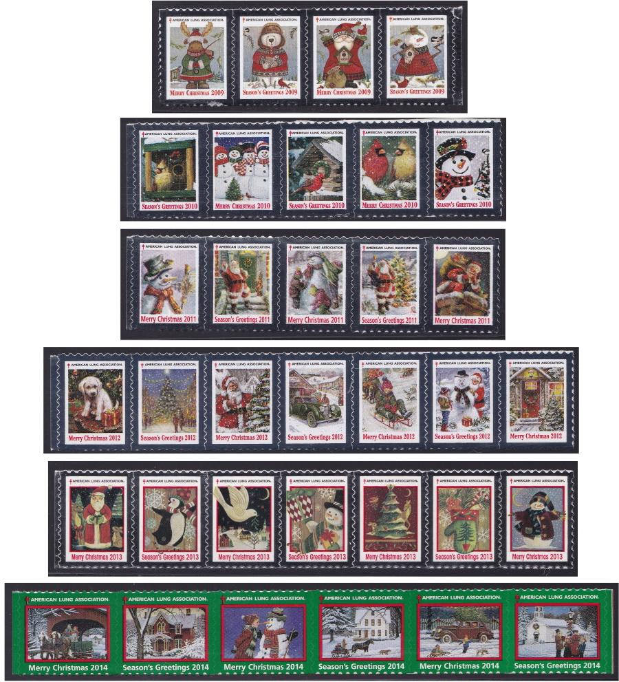 American Lung Association Christmas Seals 2009-14