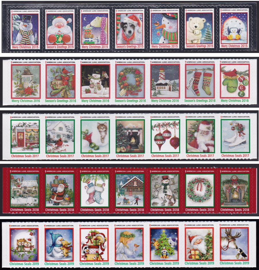 American Lung Association Christmas Seals 2015-19