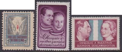 Argentina Juan & Eva Peron Christmas Seals c.1950