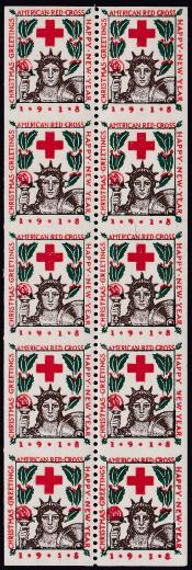 1918-1 Christmas Seals error VPIB pane of 10