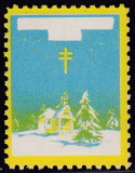1934 Christmas Seal error, yellow & light blue only