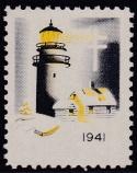 1941 Christmas Seal error, yellow & black only