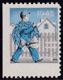 1945 Christmas Seal error, blue & black only