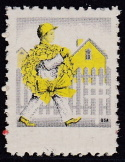 1945 Christmas Seal error, black & yellow only