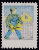 1945 Christmas Seal error, black, blue & yellow only