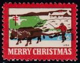 1947 Christmas Seal error, blue & green inverted