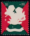 1950 Christmas seal error, red & green only