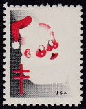 1951 Christmas seal error, red & black only