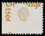 1953 Christmas seal error, gold only