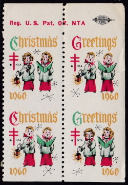1960 Christmas seal error, VPIH block