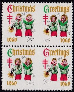1960 Christmas seal perforation experiment, HPIB block
