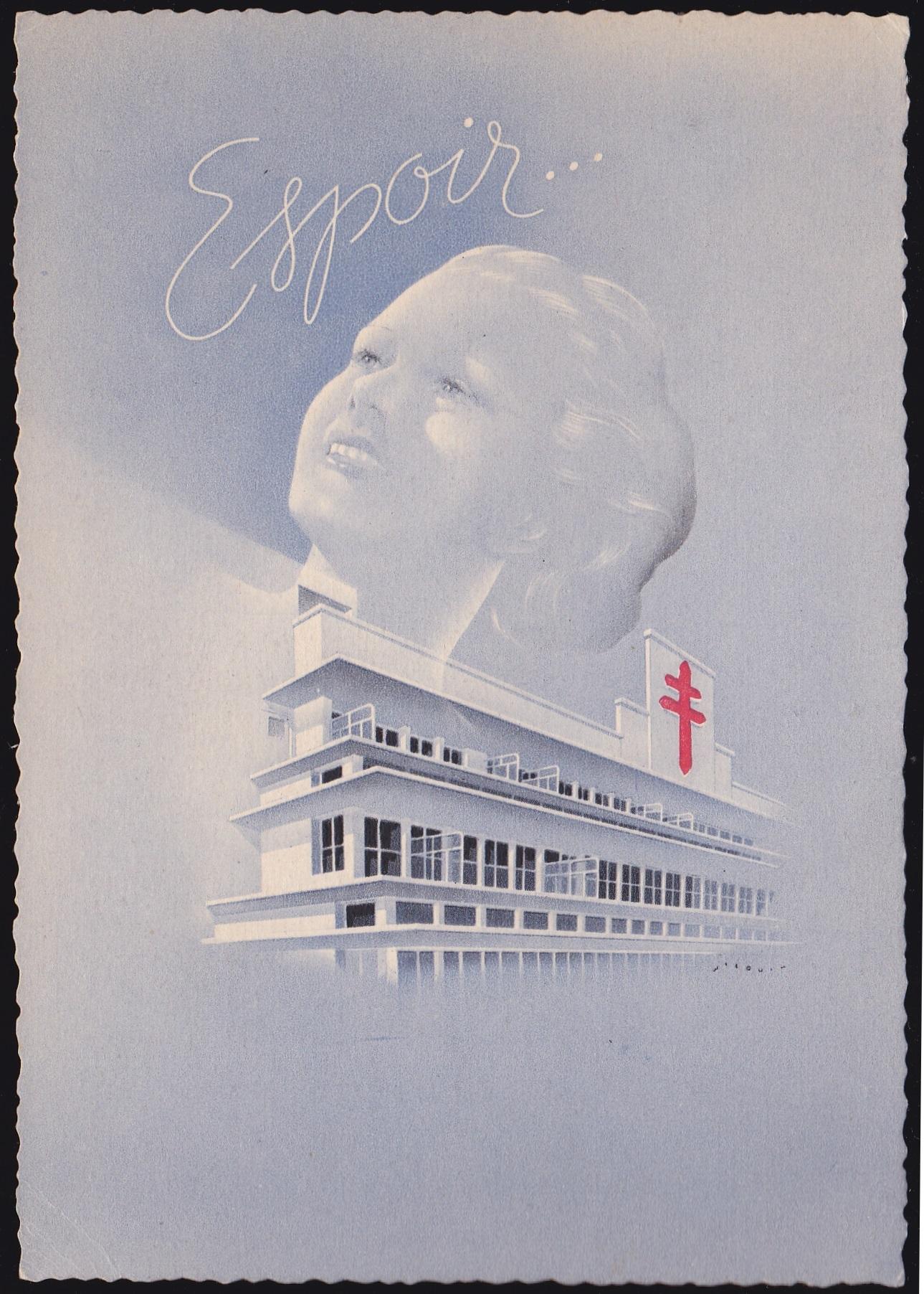 French 1939 TB Postcard