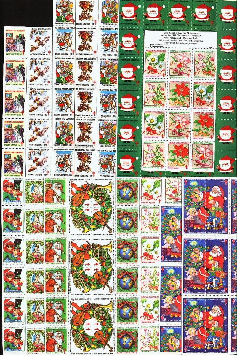 1985 // 1991 ALA Christmas Seal Sheets