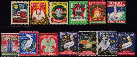 Louisiana Anti TB League, (New Orleans, LA) TB Seal Set