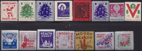 Moody County Health Seals, (Flandreau, SD) TB Seal Collection