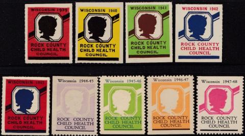 Rock County Child Health, (Evansville, WI) TB Seal Collection