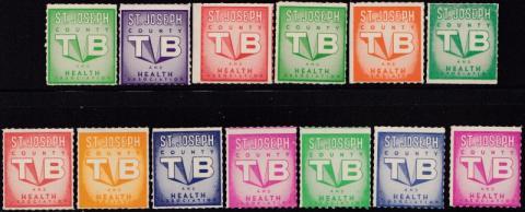 Saint Joseph County, (Centerville, MI) TB Seal Set
