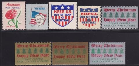 Patriotic and Veteran, American War Mothers, (Washington, DC) Seal Set