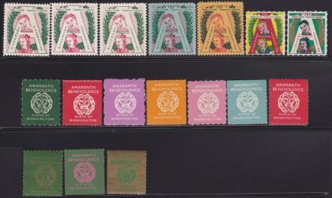 Civic and Fraternal, Amaranth Foundation, (San Francisco, CA) Seal Set