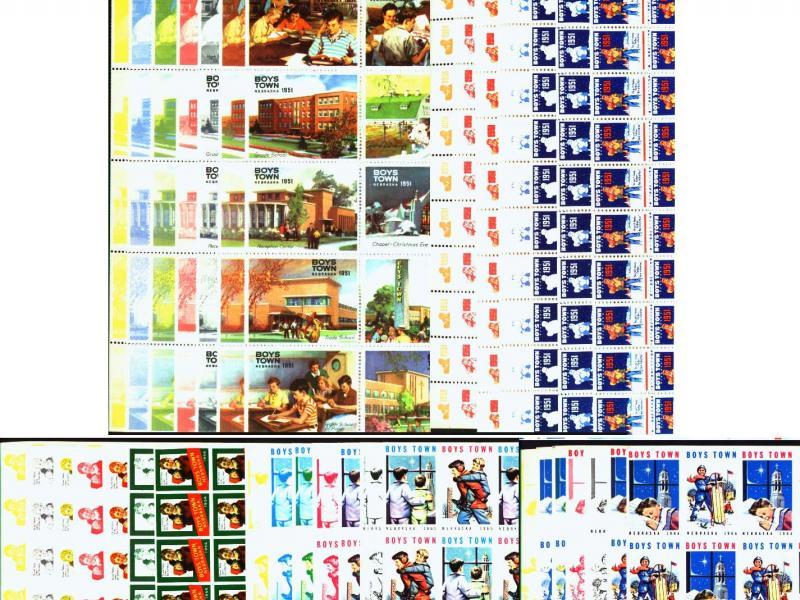Catholic, Boystown, Progressive Color Proof Sheet Sets