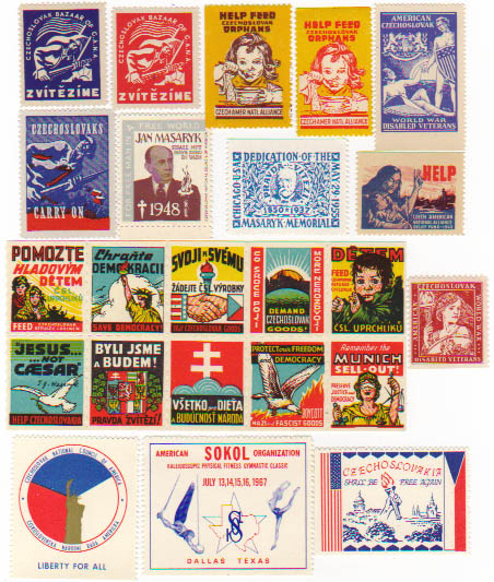 Ethnic, 23 Different US Czechoslovakian seals