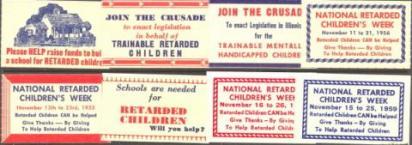 """Medical, """"Retarded Children"""" Seal Set"""