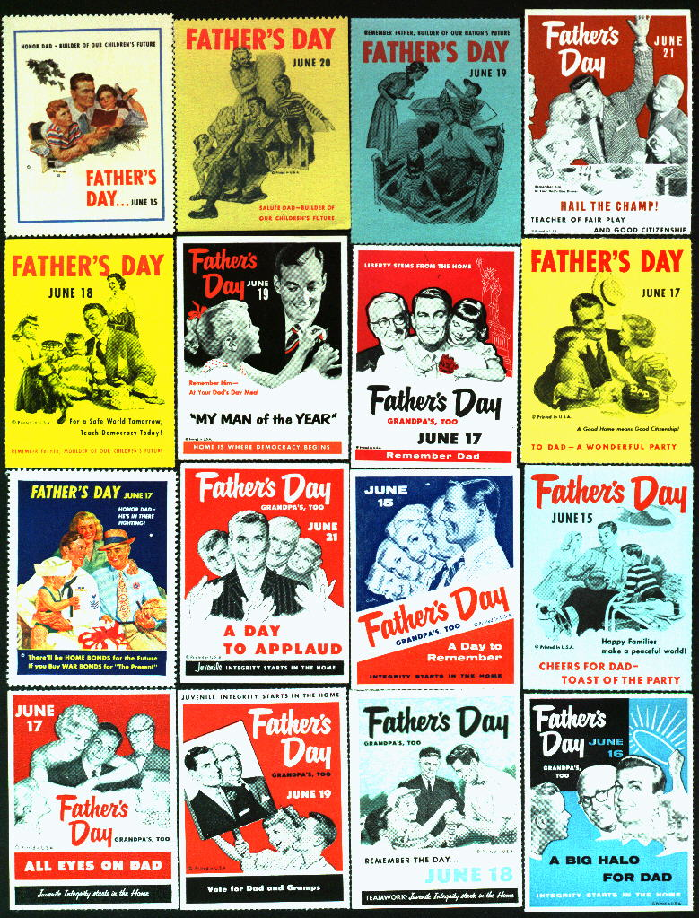 Miscellaneous Section, Father's Day Poster Stamp Set