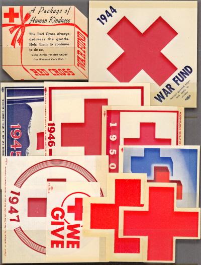 Red Cross, USA, Window Label Set