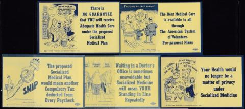 Advertising, Early Health Insurance, anti Socialized Medicine