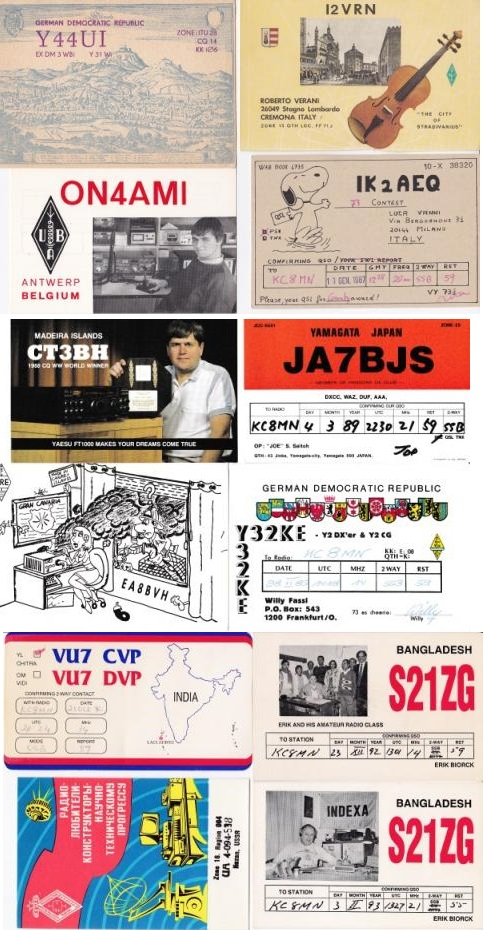 Mixed, QSL Radio Post Card Collection