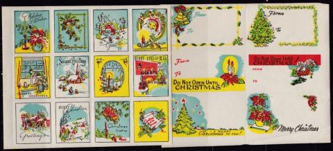 Mixed, set of 2 Commercial Xmas Seal Booklet Panes
