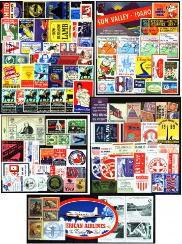 Mixed, 105 Diff Poster Stamps