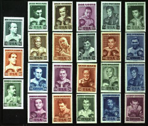 Sports, Heavy Weight Boxing, Slania Set of 23 with Autograph