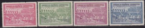 Sports, 1940 Olympic, Intaglio Engraved Set of 4