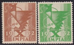 Sports, 1932 Mexico Olympic Set of 2