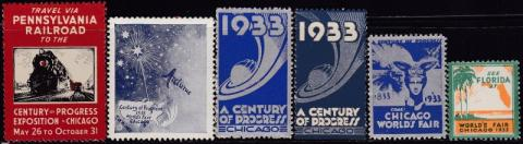 Worlds Fair, Century of Progress, Chicago, IL, Set of 6