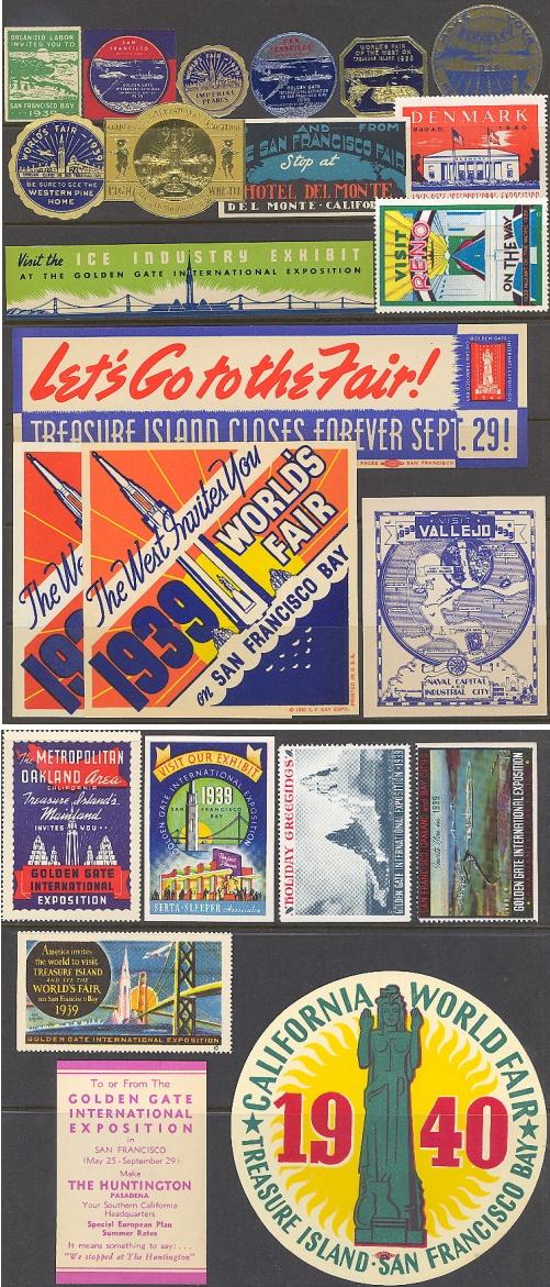 Worlds Fair, 1939-40 San Francisco Golden Gate, Set of 23