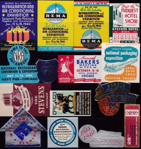 Tourism, 15 Diff Chicago Poster Stamps