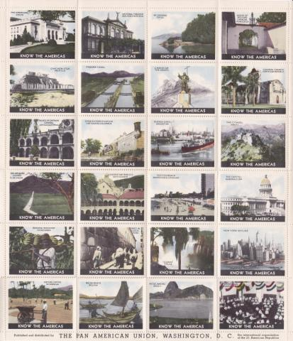 Tourism, 1930's Pan Am Union Sheet
