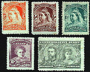 Other Events, 1897 Diamond Jubilee Set of 5