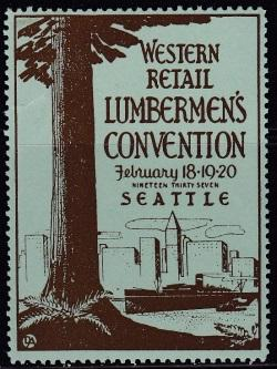 Other Events, 1937 Lumbermen's Convention Poster Stamp