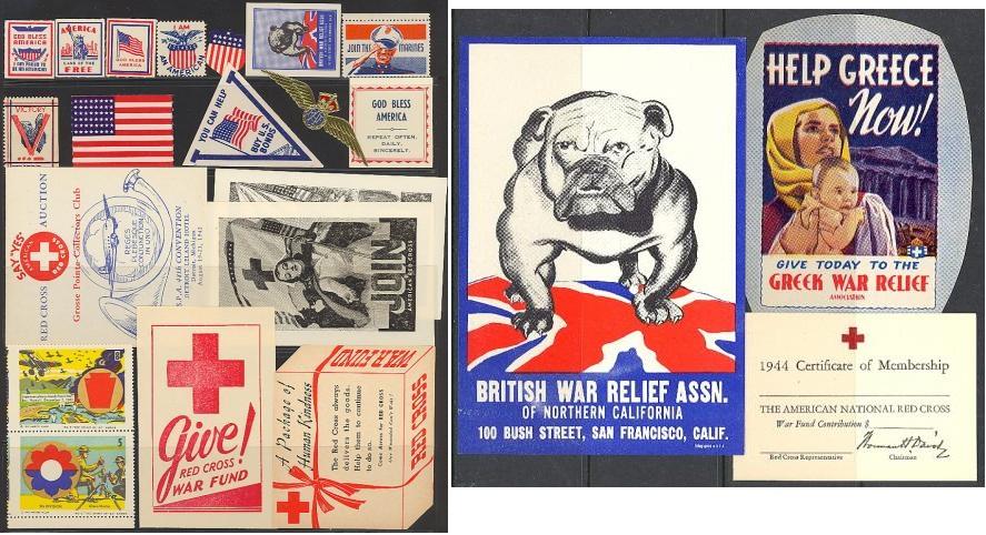 Patriotic, Set of 22 WW2 Patriotic Poster Stamps