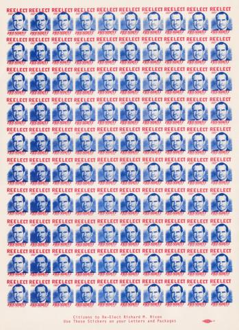 People and Politicans, Sheet of 100 1972 Nixon for President